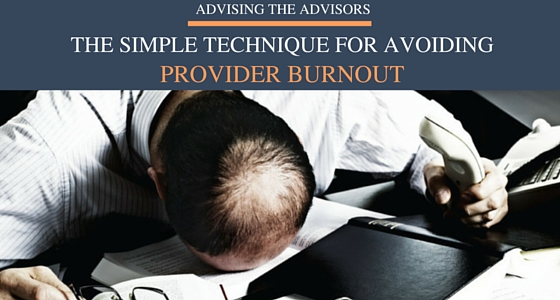 The Simple Technique for Avoiding Provider Burnout and Lowering Stress